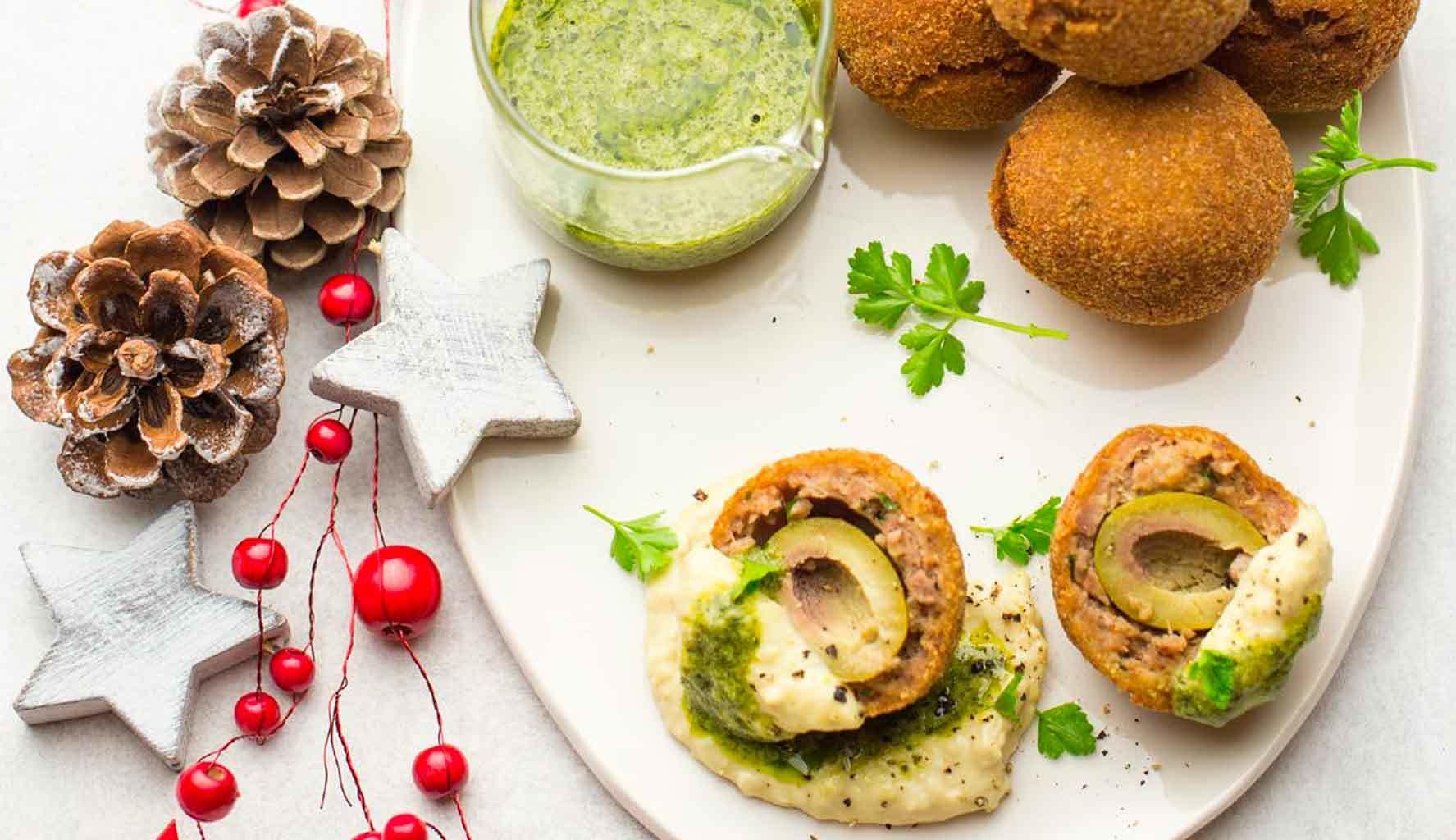 Ricetta Hummus Kenwood.Ricetta Olive All Ascolana Al Contrario Con Hummus Di Cannellini E Salsa Verde Ricette Kenwood Club